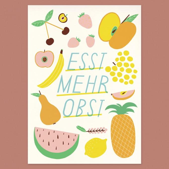 Anne Albert – Esst mehr Obst – Siebdruck (25 x 35 cm)