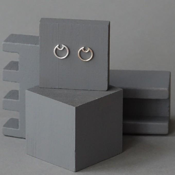 Ohrkreise Nr. 13 - margaritifera - Ohrstecker - Silber 925