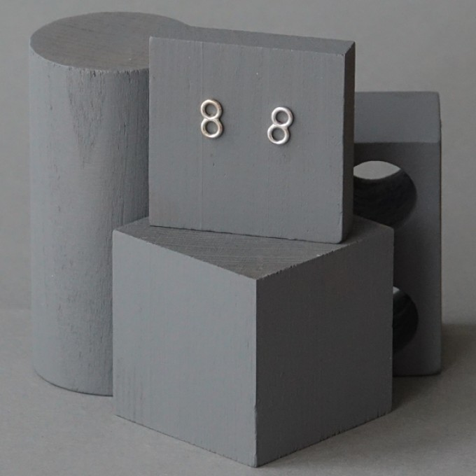 Ohrkreise Nr. 2 - margaritifera - Ohrstecker - Silber 925