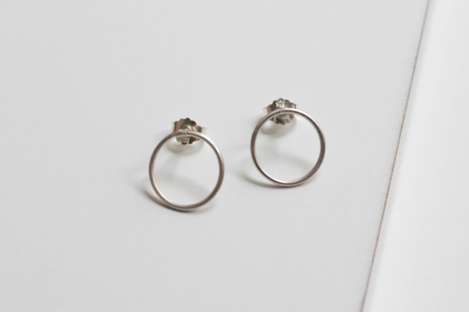 """puur.jewellery Ohrring """"circle no.1"""""""