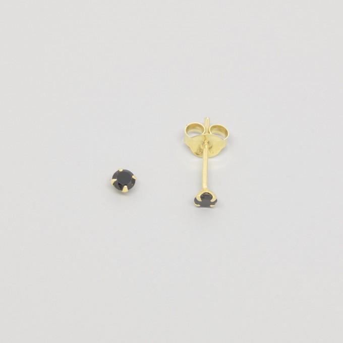fejn jewelry - Ohrstecker 'black stud'