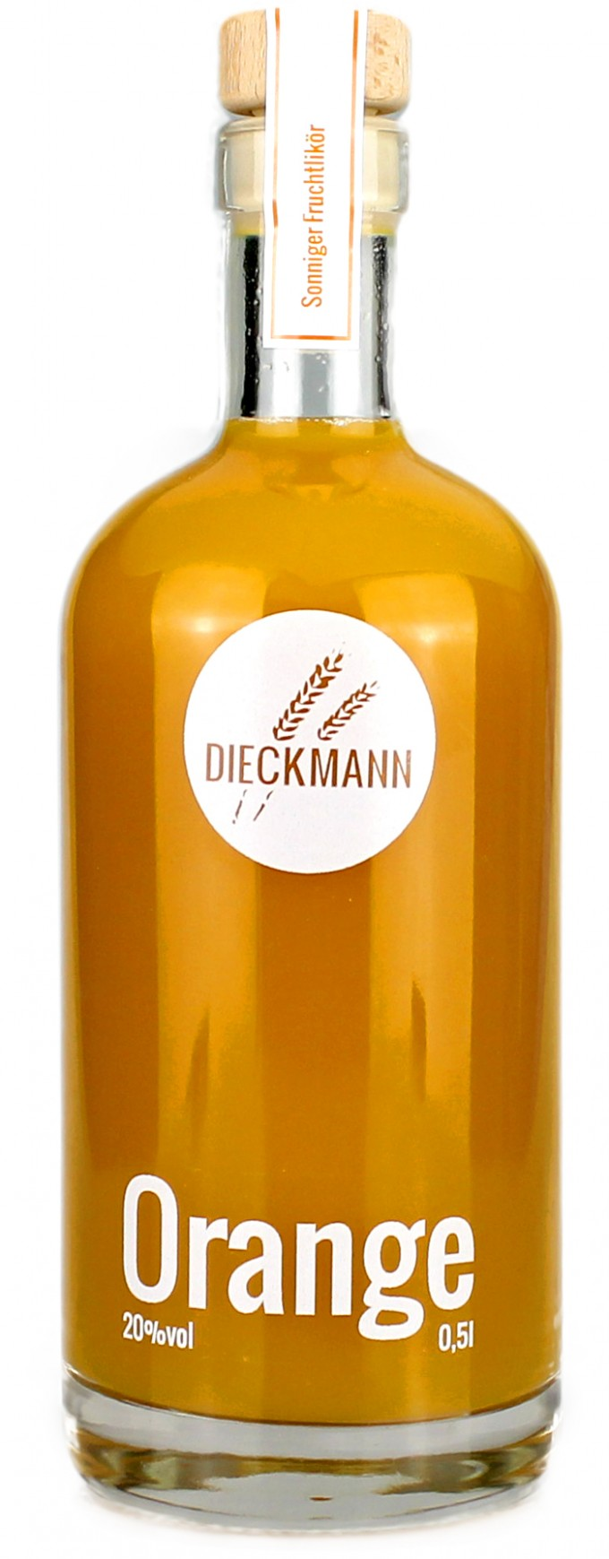 Weizenbrennerei & Likörmanufaktur Dieckmann Orange - Fruchtlikör LIKÖR 20%vol., 0,5l
