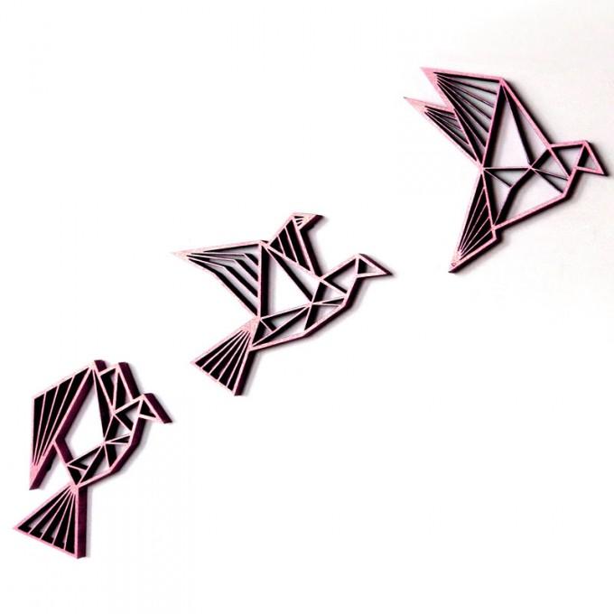 Gut bekannt NOGALLERY drei Vögel, fliegend - 3D Holz Motiv & Wand Deko UW33