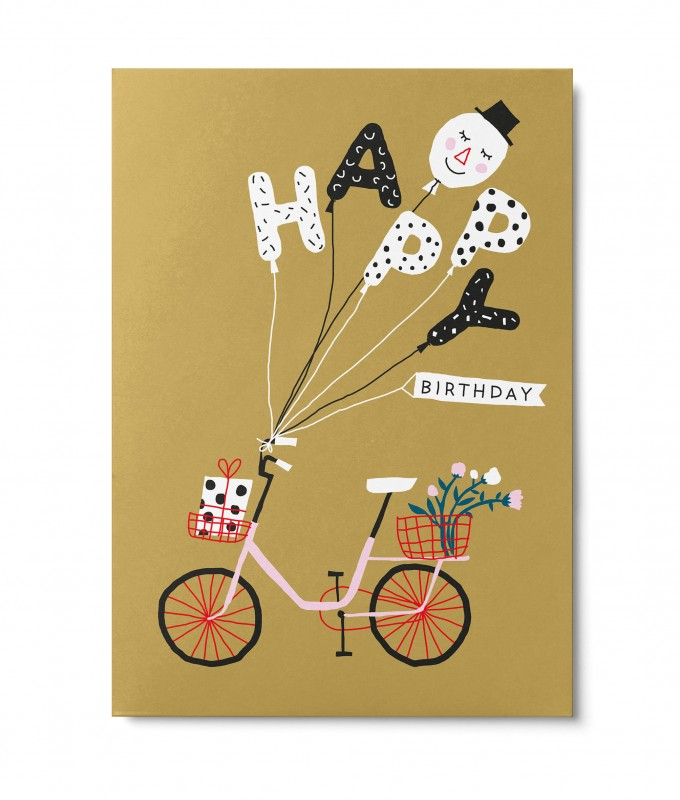 UNTER PINIEN – Happy Birthday – Postkarte