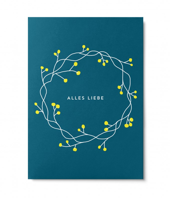 UNTER PINIEN – Alles Liebe – Postkarte