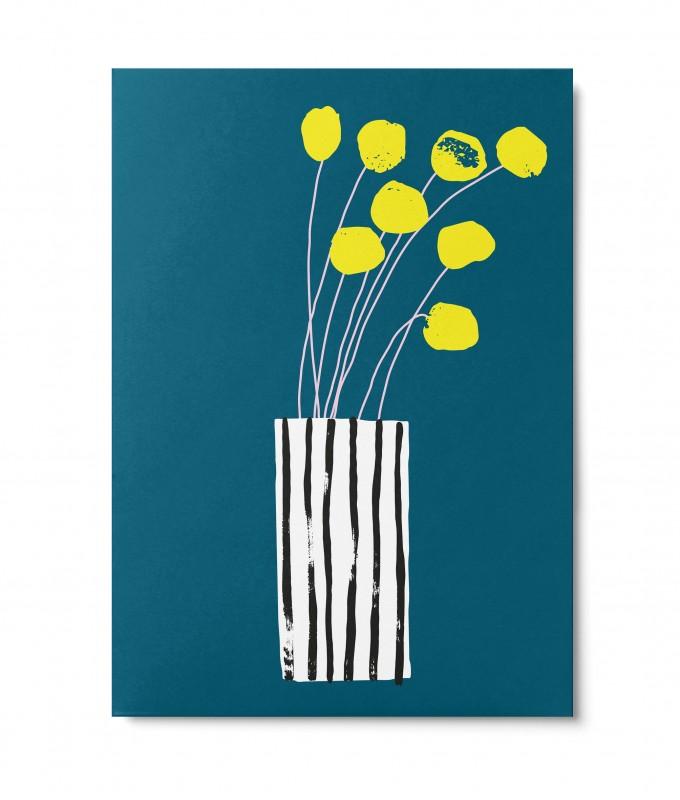 UNTER PINIEN – Blumengruß – Postkarte