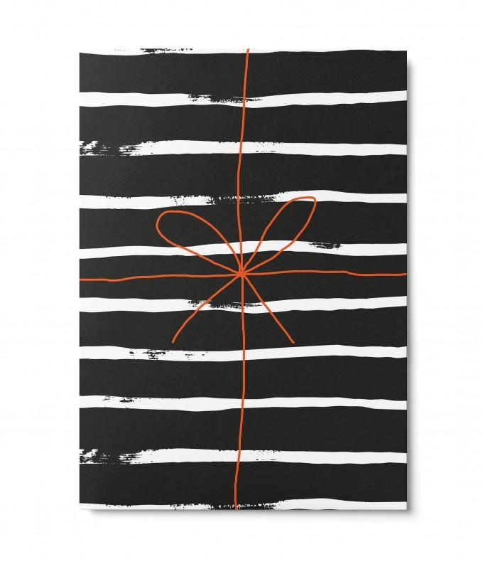 UNTER PINIEN – Geschenk gestreift – Postkarte