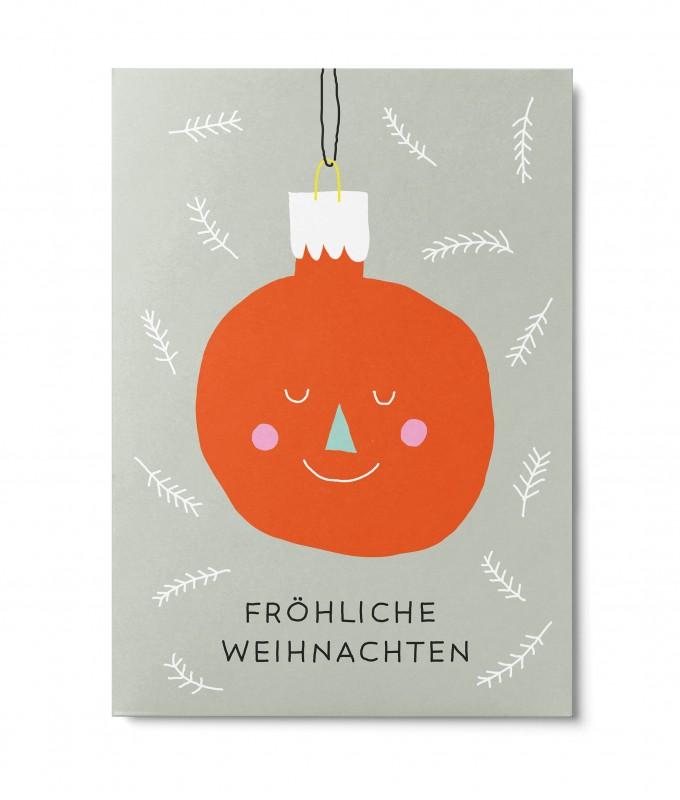 UNTER PINIEN – Weihnachtskugel – Postkarte