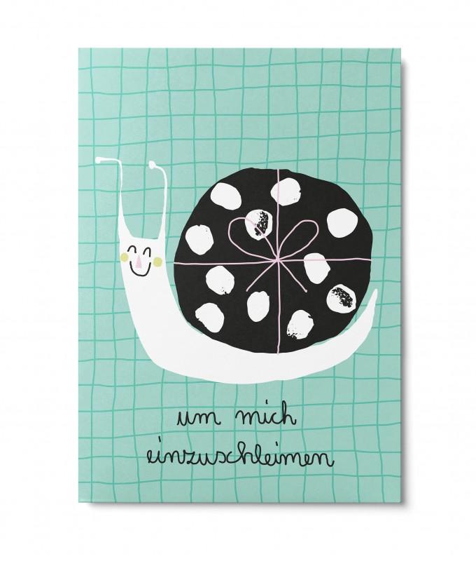 UNTER PINIEN – nette Schnecke – Postkarte