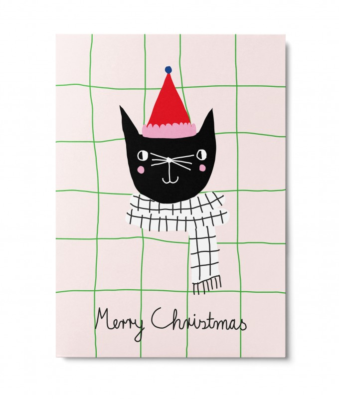 UNTER PINIEN – Christmas Cat – Postkarte