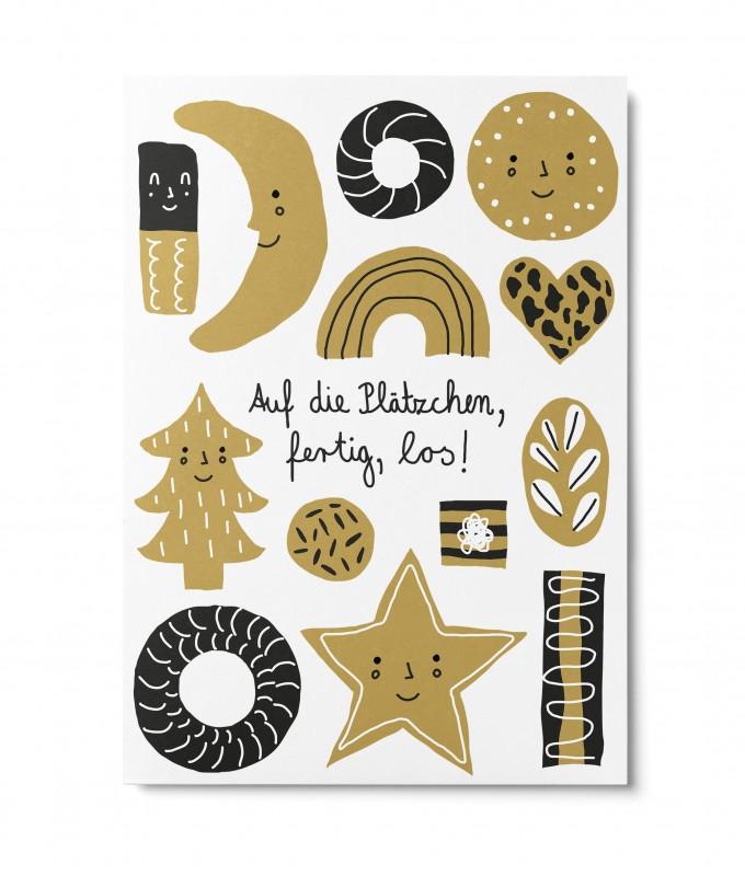 UNTER PINIEN – Plätzchen – Postkarte