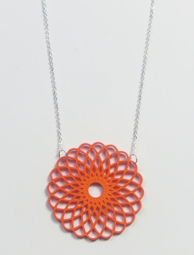 Theobalt.design Hypotrochoid Halskette orange