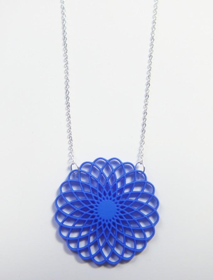 Theobalt.design Hypotrochoid Halskette blau