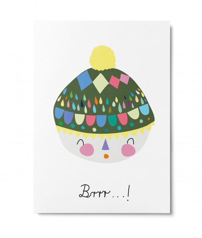 UNTER PINIEN – brrr – Postkarte