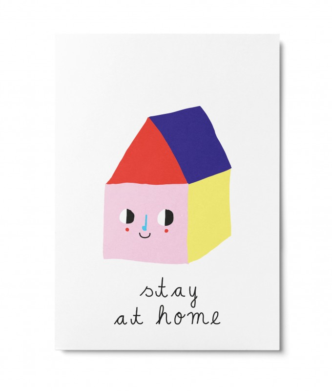 UNTER PINIEN – stay at home – Postkarte