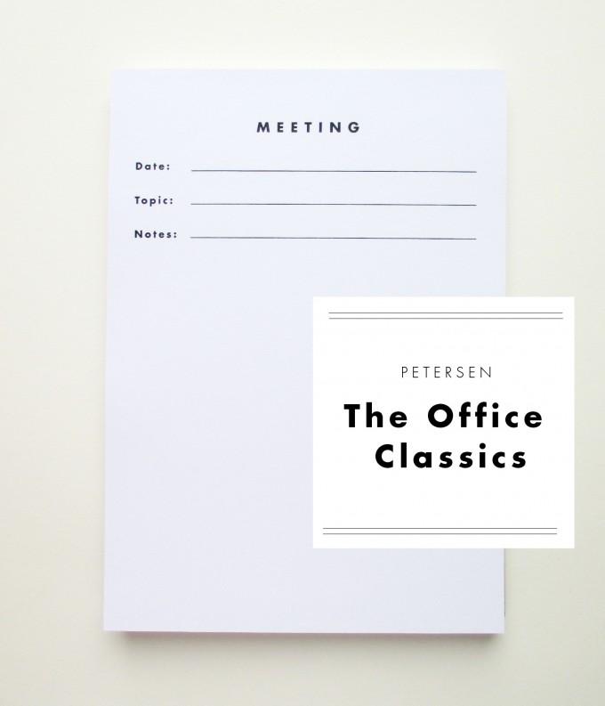 """PETERSEN """"The Office Classics"""", Schreibblock """"Meeting"""""""