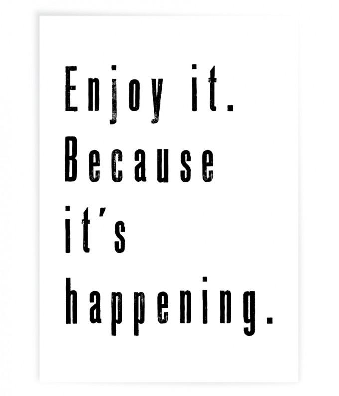 """PETERSEN Poster """"Enjoy it"""" (A3)"""