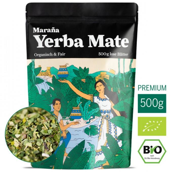 Maraña Bio Yerba Mate Tee Grün ● Lose Blätter ● Natürlicher Wachmacher und Energy Booster mit Koffein ● Beste Kaffee-Alternative ● Fair Trade  ●  (Grundpreis: 29,98€/1kg)