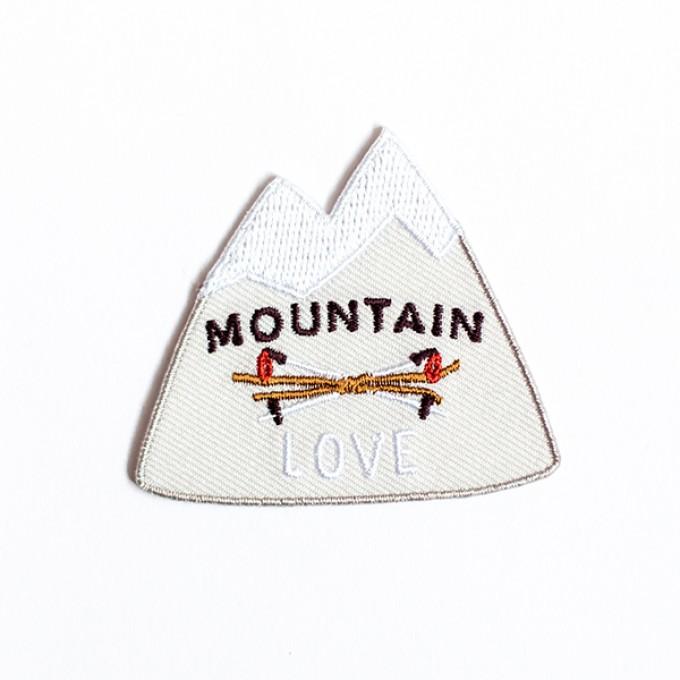 """Roadtyping Patch zum Aufbügeln """"Mountainlove"""""""