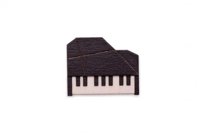 BeWooden Holzbrosche Klavier - Piano Brooch