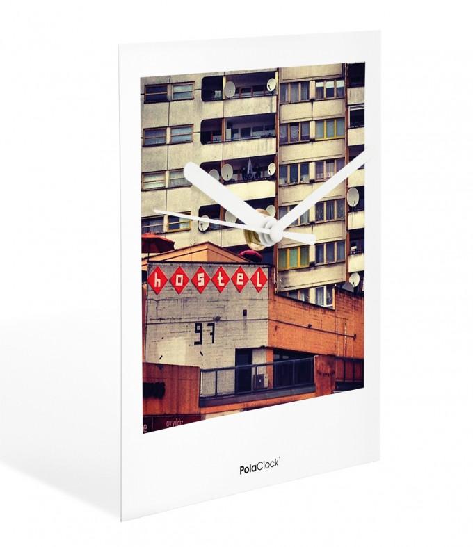 "PolaClock ""HOTEL KOTTI"" Wanduhr / Tischuhr im Polaroid-Look by Marcel Kochert"