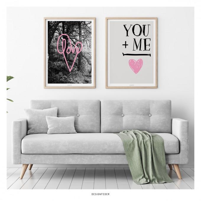 designfeder | Poster Love und You + Me