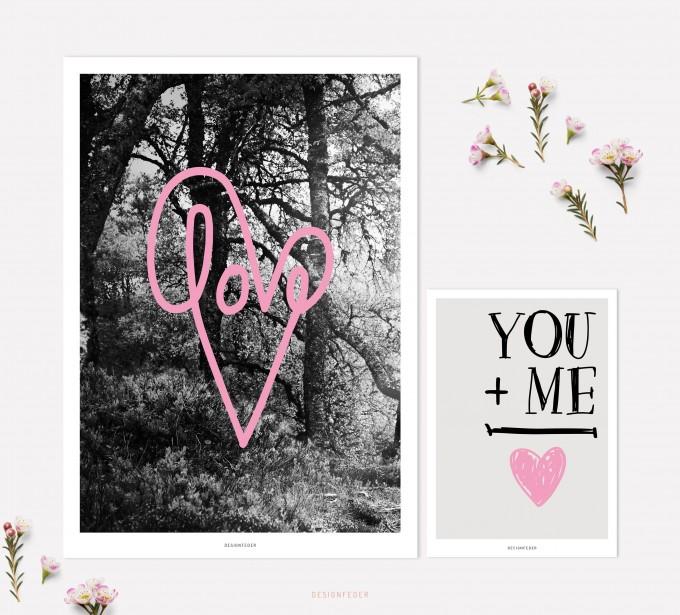 designfeder   Poster & Postkarte Love