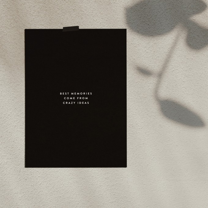 """Love is the new black — Poster """"Memories"""", Din A4 Format"""