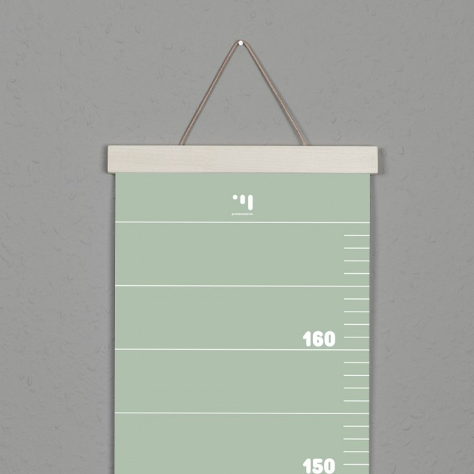 punktkommastrich - Posterleiste / Bilderleiste / magnetische Bilderleiste A4 / Aufhängung für Messlatte im Kinderzimmer