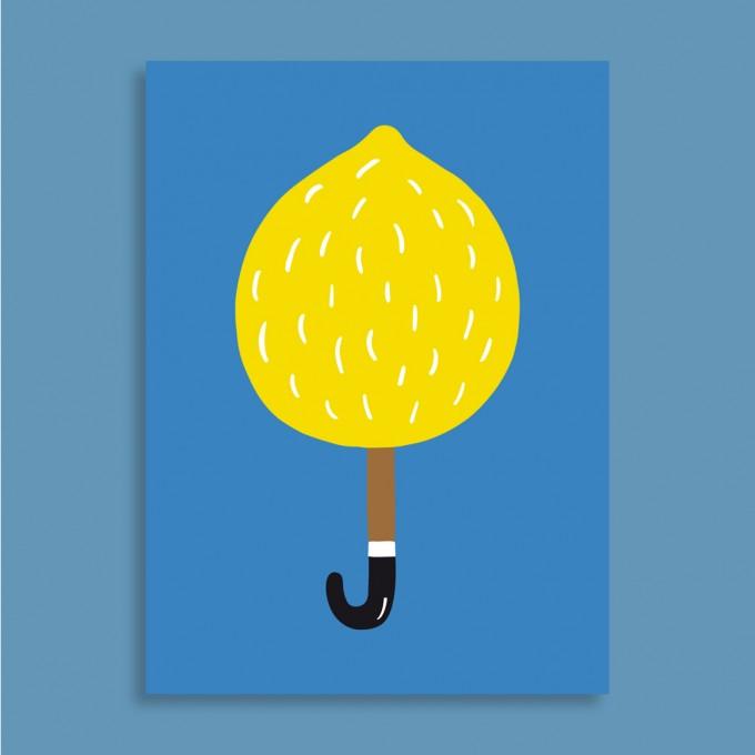 Family Tree Shop / Postkarte / Zitronenschirm