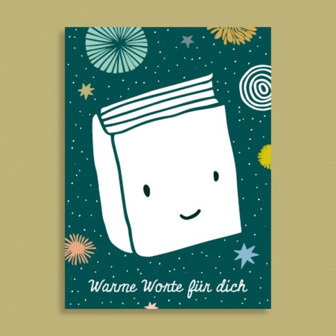 Family Tree Shop / Postkarte / Warme Worte