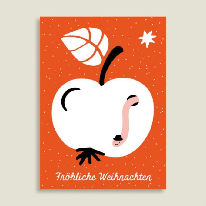 Family Tree Shop / Postkarte / Der Weihnachtswurm