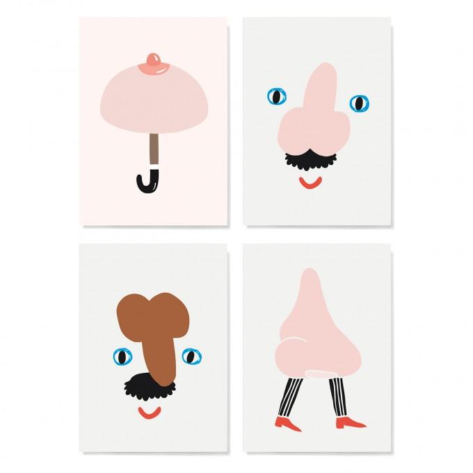 Family Tree Shop / Postkarten-Set / Body