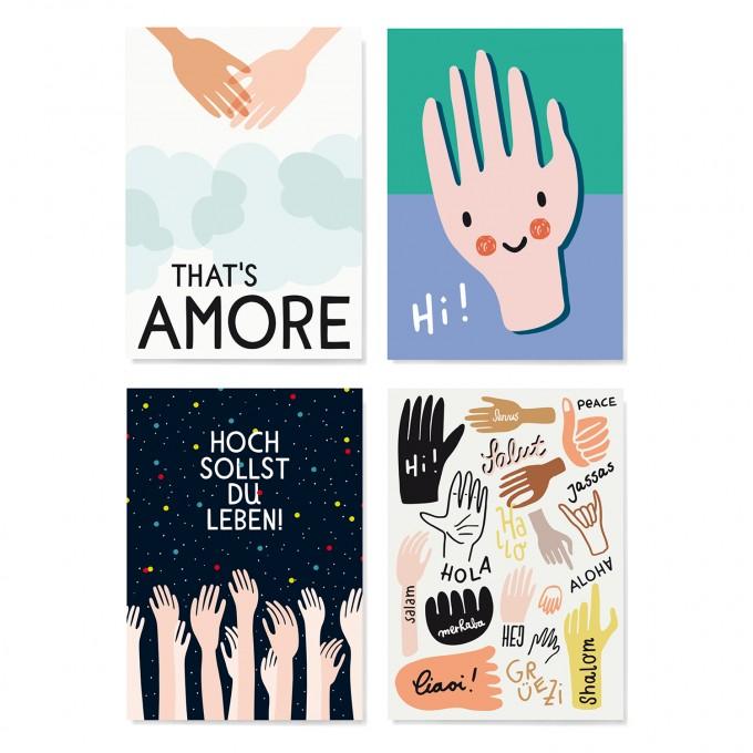 Family Tree Shop / Postkarten-Set / Hände