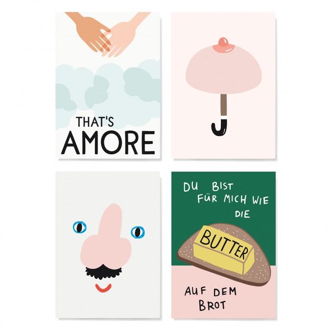 Family Tree Shop / Postkarten-Set / Valentin
