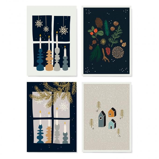 Family Tree Shop / Postkarten-Set / Skandinavisch Weihnachten