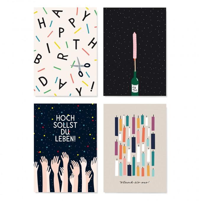 Family Tree Shop / Postkarten-Set / Geburtstag