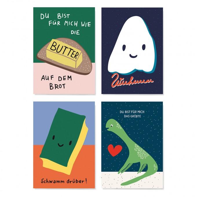 Family Tree Shop / Postkarten-Set / Funny & Lovely