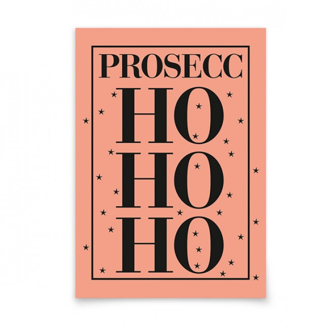 aprilplace // ProseccHoHoHo // Weihnachtskarte A6
