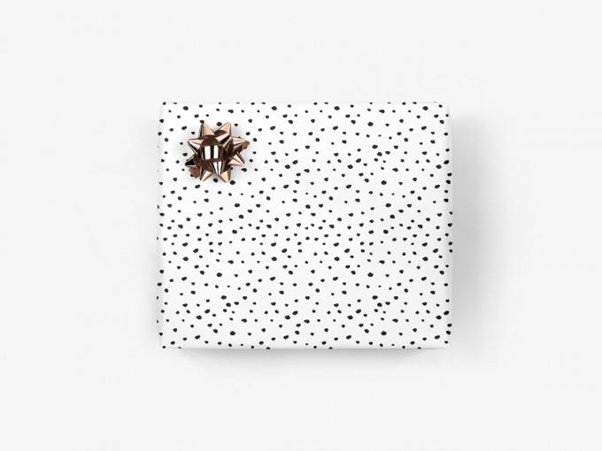 5x Geschenkpapier / Punkte (gefaltet)