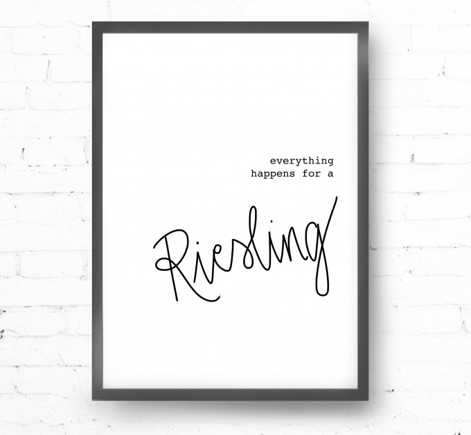 Kruth Design POSTER / RIESLING