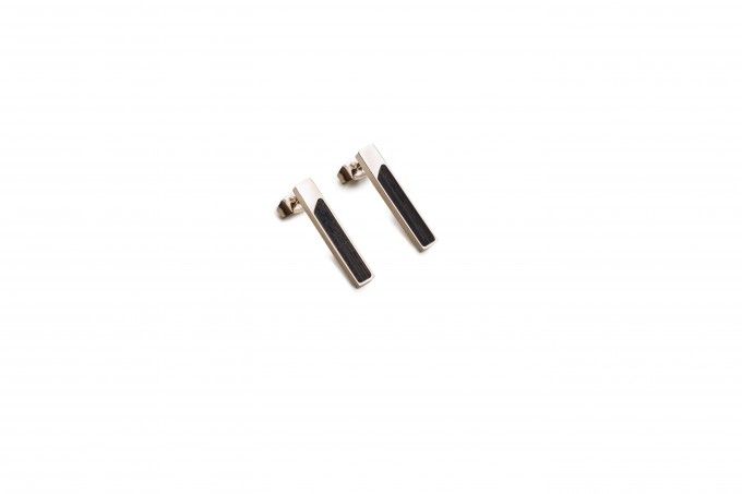 BeWooden Ohrringe mit Holzdetail - Neue Collection - Rose Earrings Rectangle