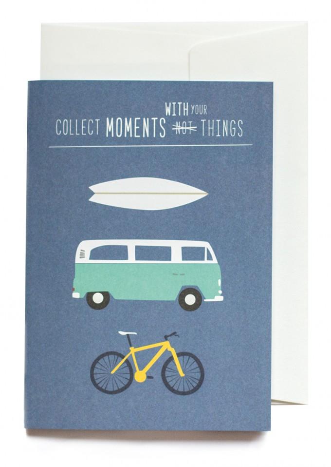 """Collect moments"" Klappkarte von Roadtyping"