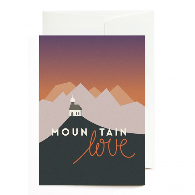 Roadtyping Grußkarte - Mountain Love