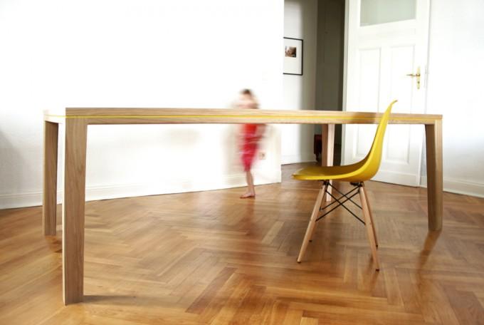bpistorius esstisch tisch r10 linoleum. Black Bedroom Furniture Sets. Home Design Ideas