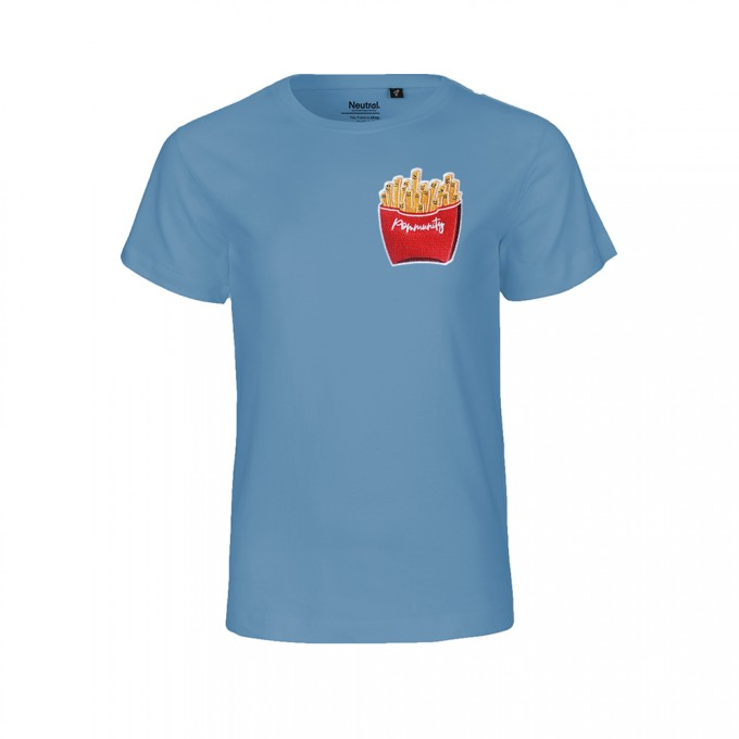 "Rapü Design Kindershirt indigoblau ""Pommunity"" 