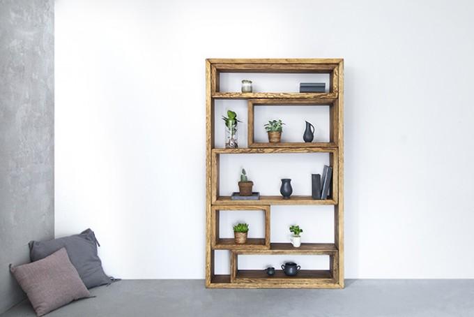 FraaiBerlin – Bücherregal aus Bauholz Marie