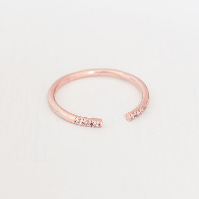 Oh Bracelet Berlin – Stapelring VI offen aus 925 Sterlingsilber rosévergoldet