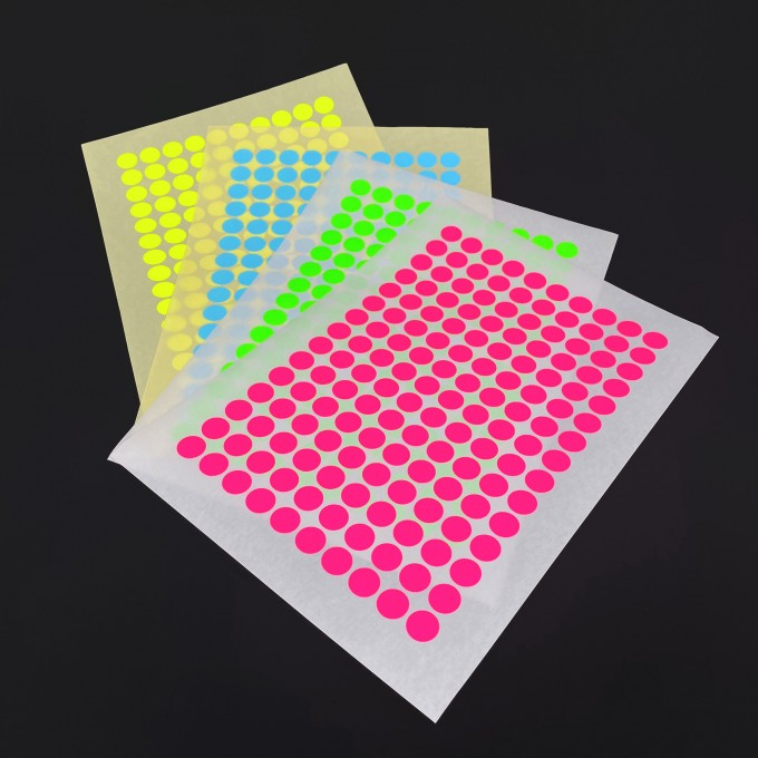 Bob and Uncle Design PAPER STICKY DOTS / For NOW IS BETTER Calendar / 4 sheets