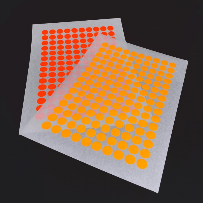 Bob and Uncle Design 2 ADDITIONAL STICKY DOT COLOURS / For NOW IS BETTER CALENDAR / 4 sheets